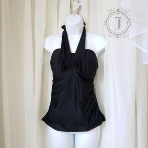 Merona Black Halter Swimsuit Top